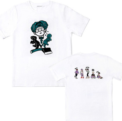 The same cartoon short sleeved T shirt around the SHINee concert for men and women should play song in summer T shirt