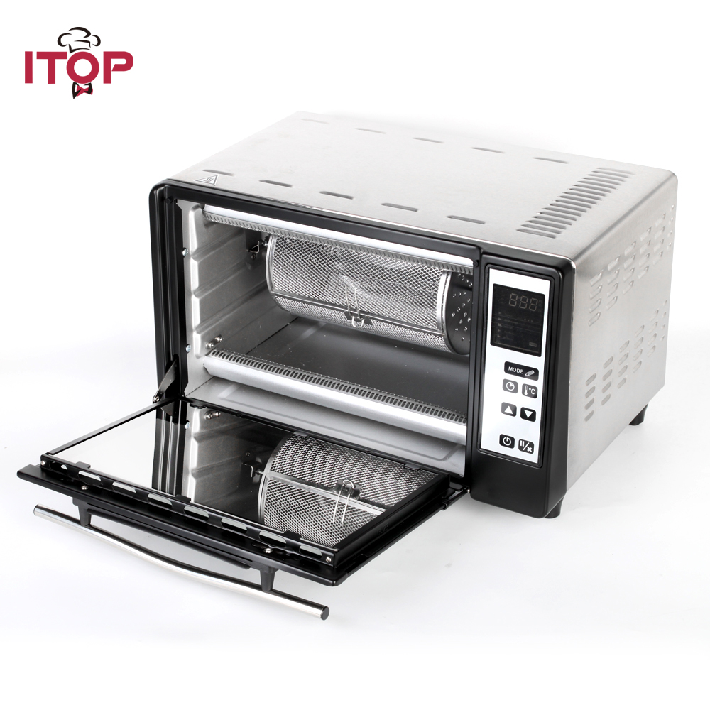 ITOP Multifunctional Electric Pizza Oven with timer bread, cake, pizza, kebab infrared ovens Machine With Pizza Stone 1pc hot sale 100%quality guaranteed doner kebab slicer two blades electrical kebab knife kebab shawarma gyros cutter