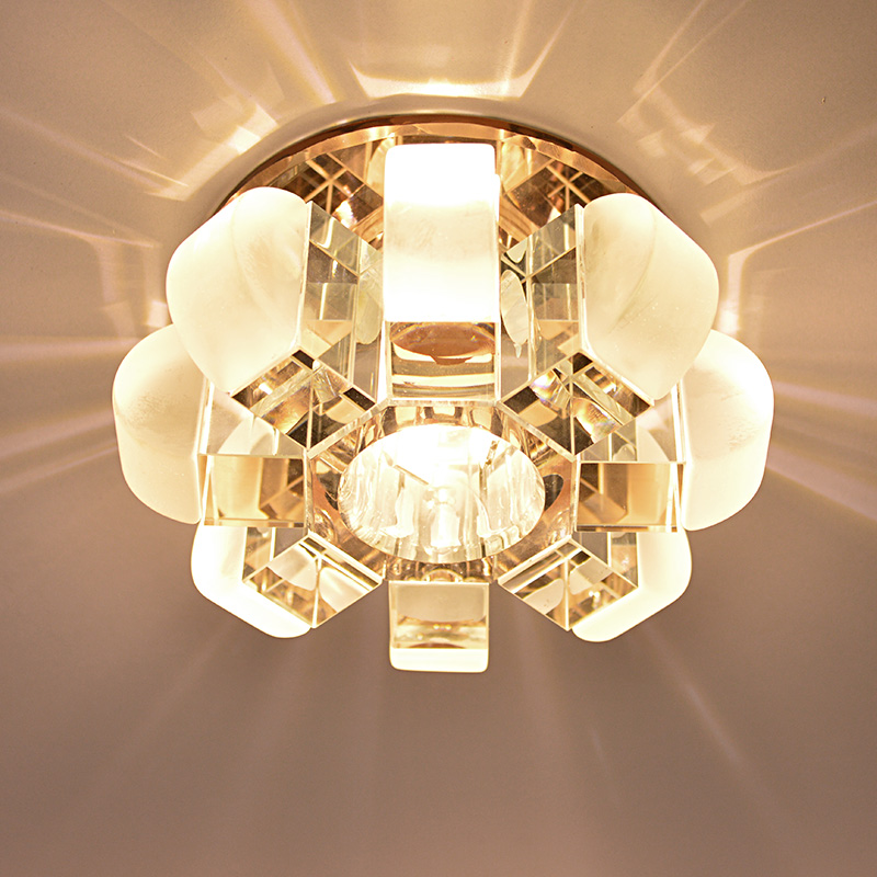 Modern Circle clear Crystal Flower design 3w LED Bulb Ceiling Light Home Corridor Deco Surface Mounted Pumpkin Bedroom lighting bedroom ceiling lamps ceiling lamp ceiling light fixture -