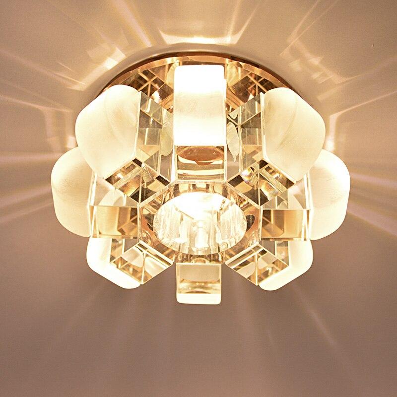 ФОТО Modern flower crystal LED Ceiling Light Pumpkin Bedroom Bedside Lamp