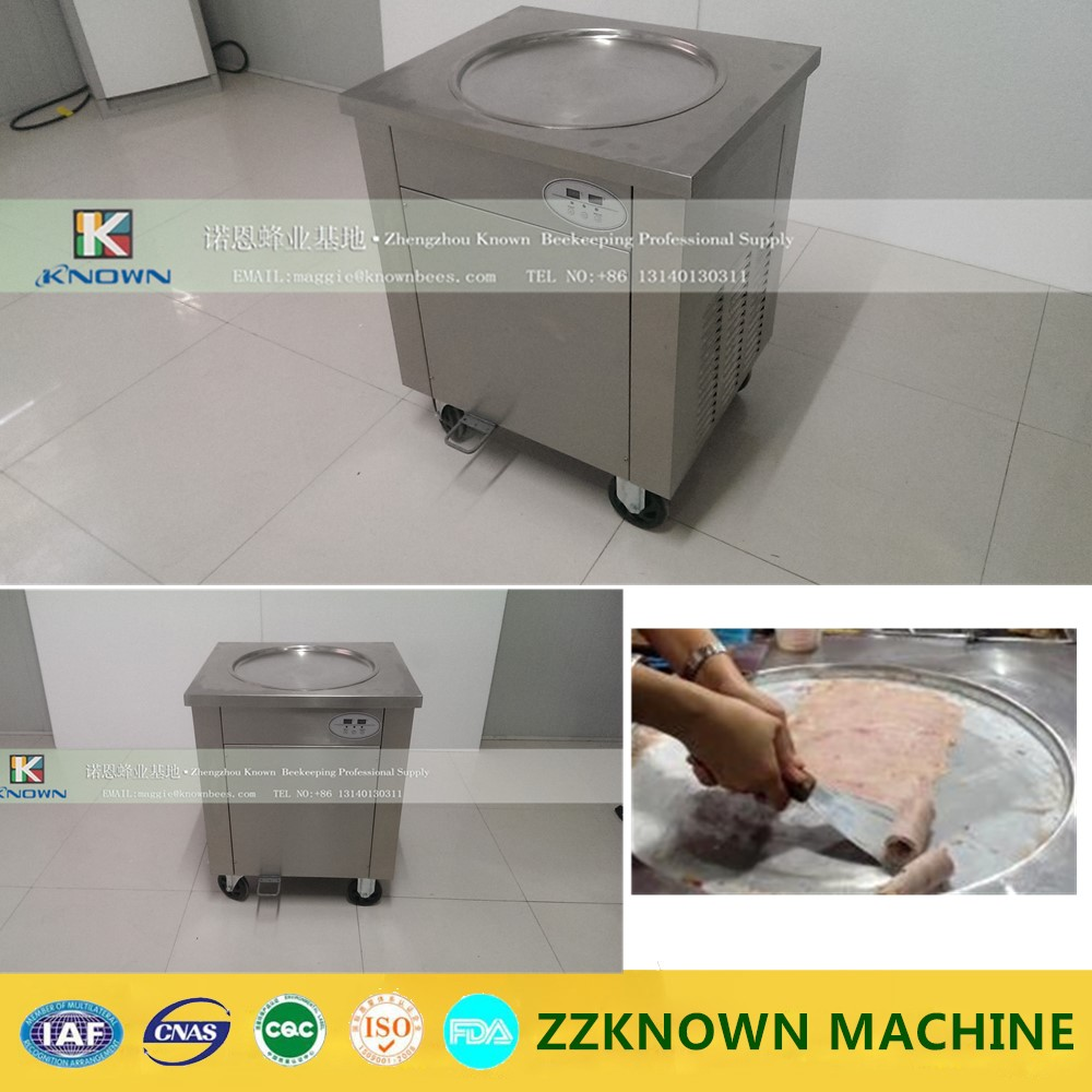 Single Pan Fried Ice Cream Roll Machine wiht temperature control 220v 110v mixed type hot dog lolly waffle machine hot dog grill