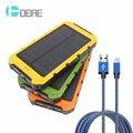 DCAE Nuevo Banco de la Energía Solar 10000 mah Cargador Solar Dual USB Potencia banco con luz led para iphone 7 plus para samsung xiaomi