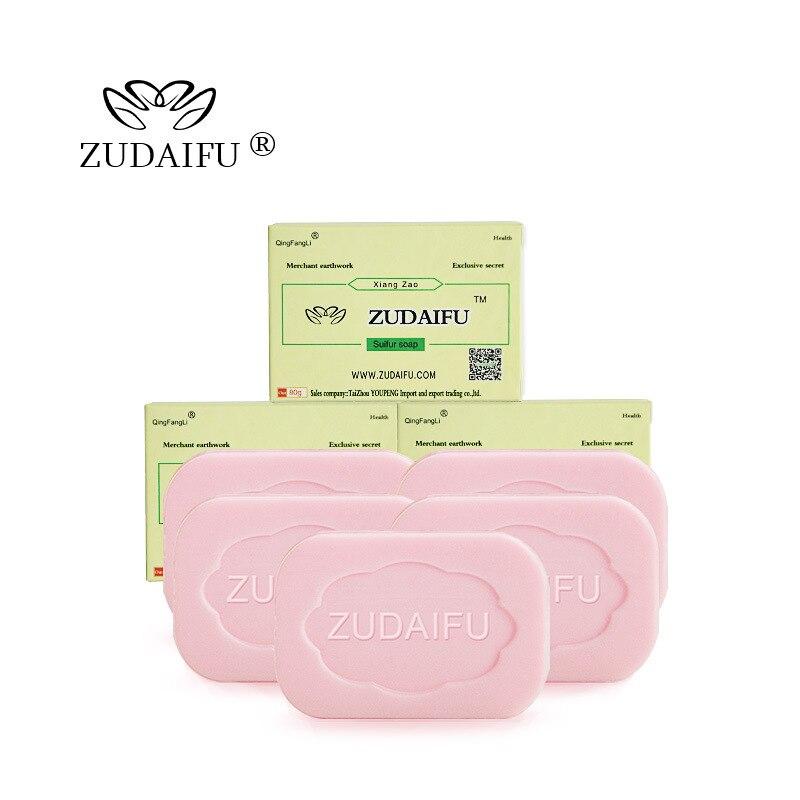 ZUDAIFU Sulfur Healthy Soap Seborrhea Eczema Anti Fungus Perfume Butter Bubble Bath Soaps Skin Conditions Acne Psoriasis