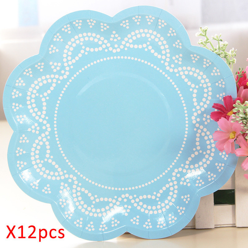 Pink Blue Lace Floral Disposable Tableware Paper Plates Cup Tissues Cake Rims Birthday Party Wedding Carnival Tableware Supplies-in Disposable Party ...  sc 1 st  AliExpress.com & Pink Blue Lace Floral Disposable Tableware Paper Plates Cup Tissues ...