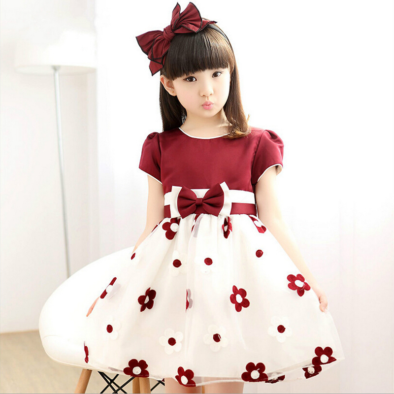 Retail New 2017 Baby Girl dress Cute Summer Dress Girls Party Dress Girl's Casual Party Dress L-52 retail new arrival100