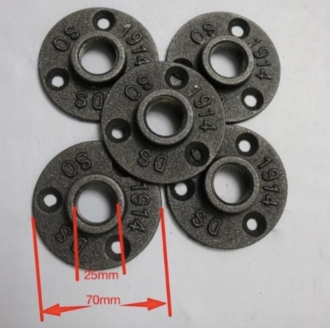 30 peças DIY Base de Tubos de Flange de Ferro Fundido em Estilo LOFT Industrial (-DN20-3/4''Pipe Buraco ID: 25 MM)