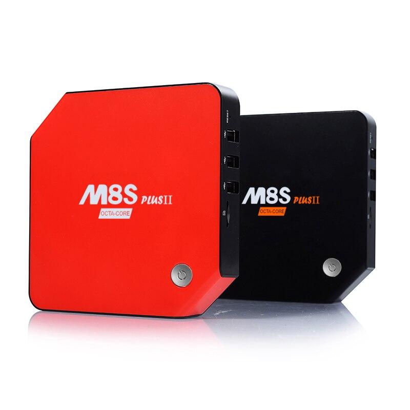 Android 7.1 Умные телевизоры коробка 3 ГБ 32 ГБ M8s PLUS II Amlogic S912 Восьмиядерный Мини-ПК 4 К H.265 media плеер домашнего кино Bluetooth Youtube