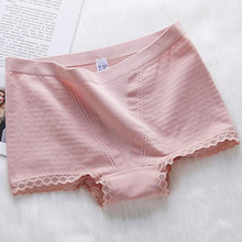 Flat bottom and triangle line modal abdomen hips waist cotton lace solid color no trace high elastic briefs free shipping