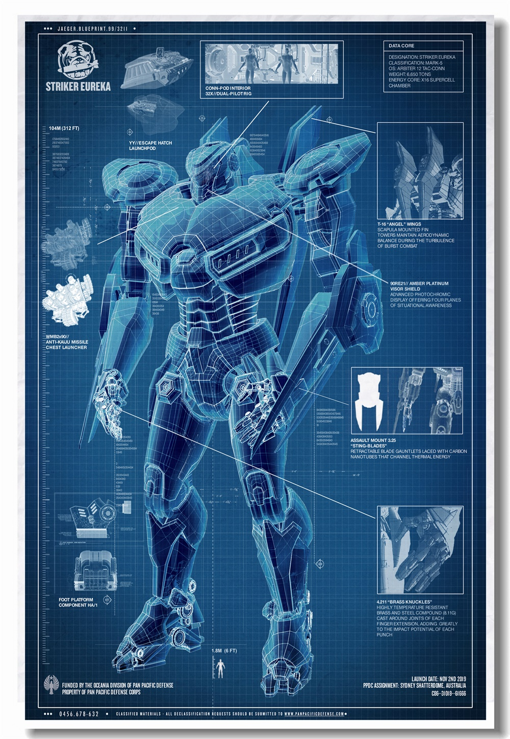 custom canvas wall art pacific rim uprising poster striker