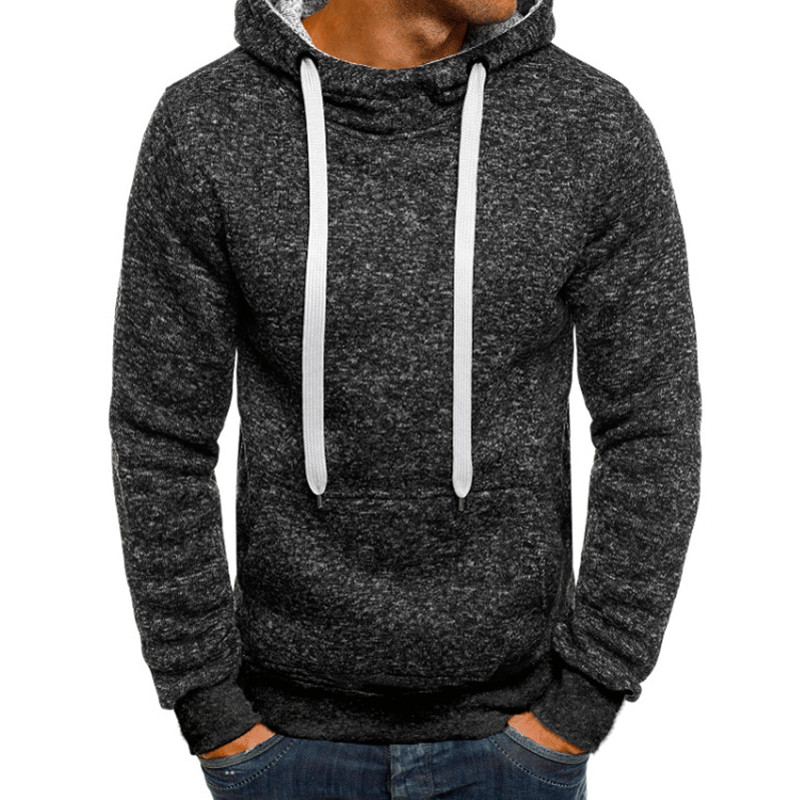 2018 Fashion Mens Hoodies Sweatshirts Long Sleeve Tops Slim Fitness Bodybuilding Joggers Hoody Tracksuit Hiphop Hoody Masculino
