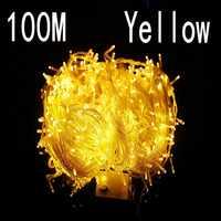 Gelbe farbe 100 meter 800 LED Weihnachtsbeleuchtung 8 Modi für Dekorative Weihnachten Urlaub Feiern Indoor/Außenbereich