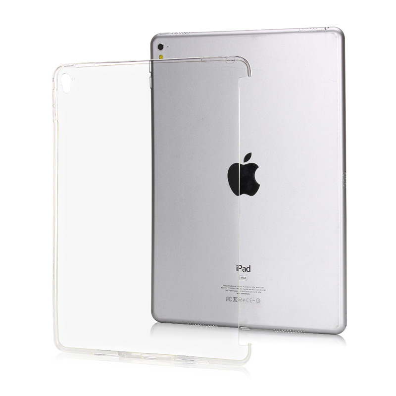 TPU Crystal Clear Silicone cover skin for Ipad Mini 1 2 3 trimming Desing