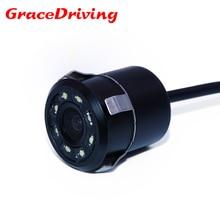 Новая водонепроницаемая CCD Универсальная камера заднего вида 8LED ночного видения реверсивная Автомобильная камера HD Автомобильная камера заднего вида для парковки