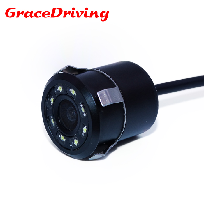 2018 CCD rezistent la apa CCD Universal camera de vedere spate 8LED Night Vision Reversing Car Camera HD Car View camera de parcare