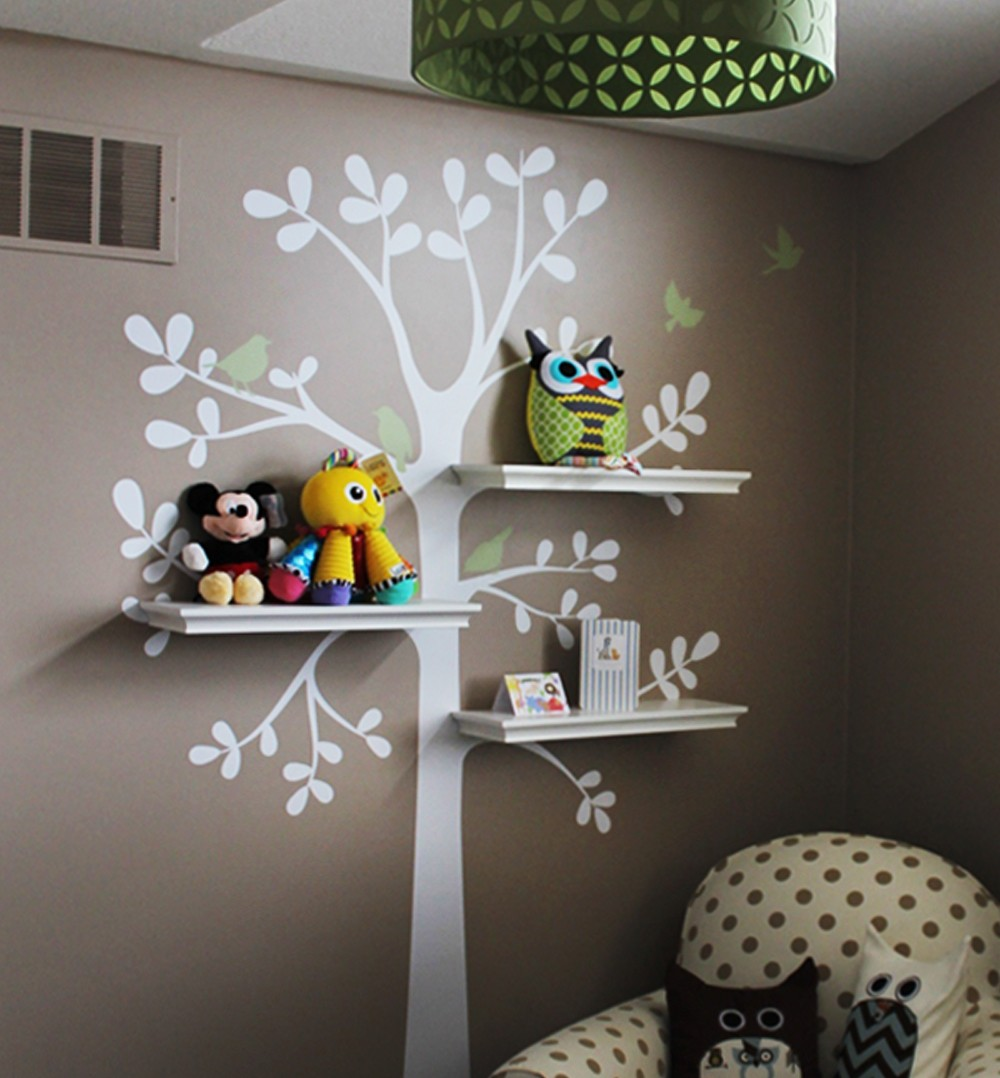 Tree wall decals large personalized family tree decal vinyl wall decal - Cherry Blossom Tree Wall Decal For Nursery Princess Girl Bedroom Wall Tattoo Large Tree With Flowers Wall Stickers A396