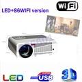 100% poner saund projetor 5500 lumens home theater tv led projetor suporte Full Hd 1080 p Media player de Vídeo Hdmi LCD Projetor 3D