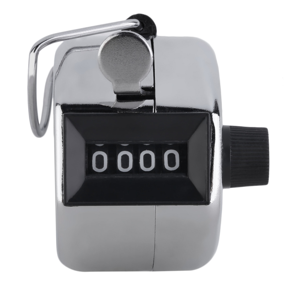 Image 5 - Metal Portable Digital Chrome Hand Tally Clicker/Counter 4 Digit Number Clicker Golf-in Golf Training Aids from Sports & Entertainment