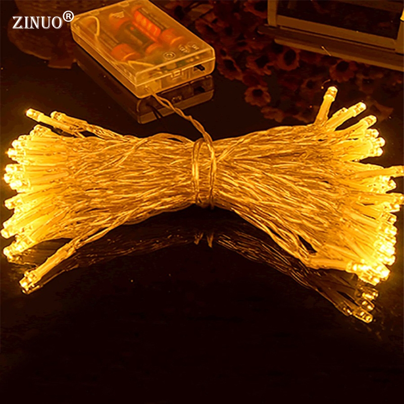 ZINUO 4M 40 Battery led string light 3 AA Battery Powered Decoration LED for Wedding Christmas,Party garland led lights outdoor