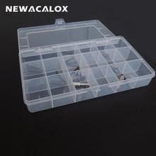 NEWACALOX Plastic Toolbox Transparent Electronic Component S