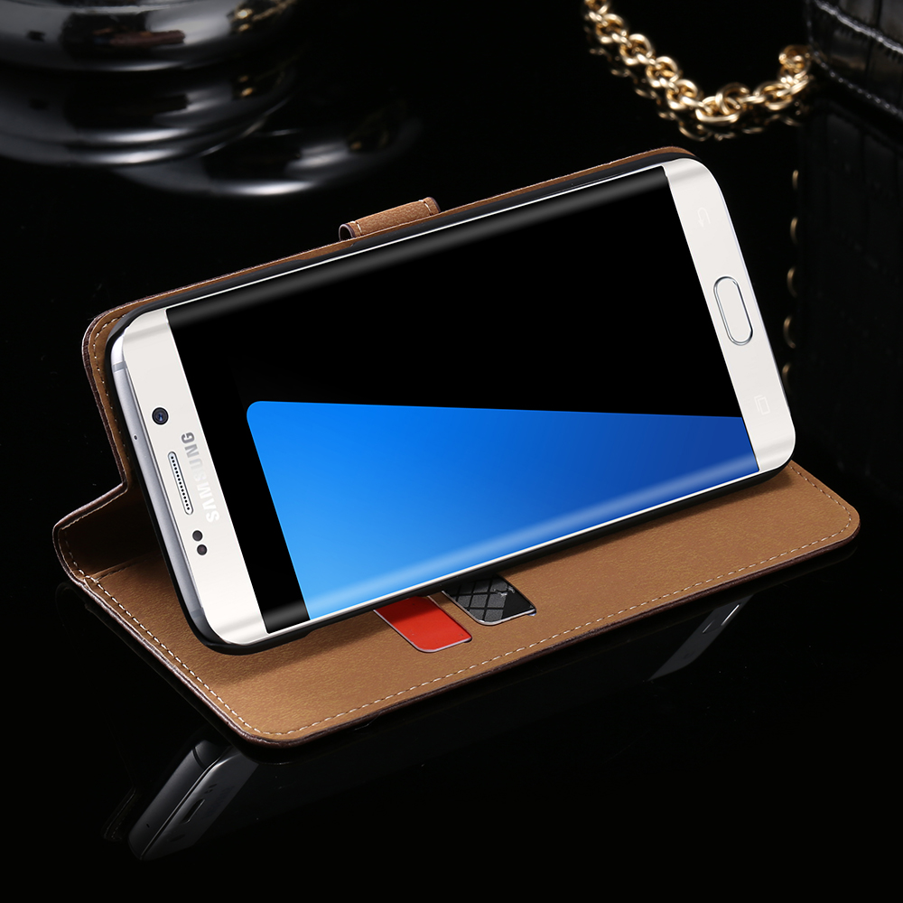 FLOVEME For Samsung Galaxy S4 Mini Case Retro Classical Flip Leather Case for Samsung Galaxy S4 mini S7 S7 Edge S6 Edge Plus S3