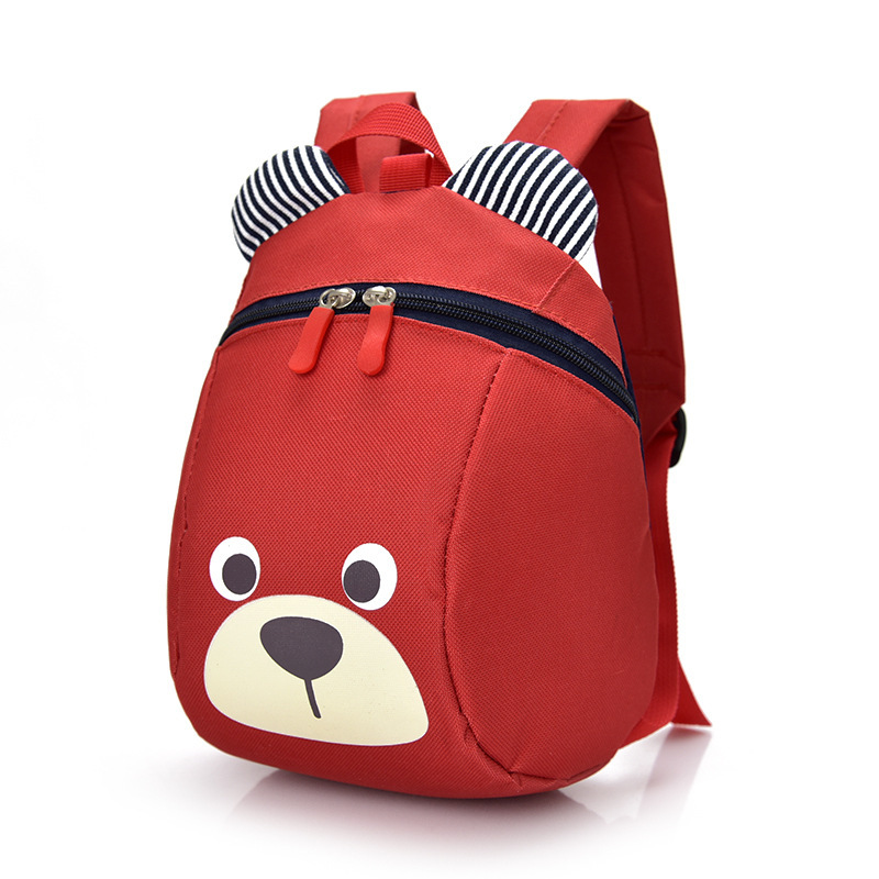 children backpack kindergarten bear school bag Age 1-3 Toddler backpack Anti-lost kids baby bag cute animal dog mochila escolar