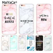 MaiYaCa Goud marmer roze liefde motivatie Citeert Woord Telefoon Case voor iphone 11 Pro XR XS Max 8 7 6 6S Plus X 10 5 5S SE(China)