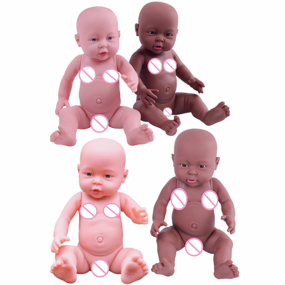 30/41cm Newborn Baby Simulation Doll Soft Children Reborn Doll Toy Boy Girl Emulated Doll Kids Birthday Gift Kindergarten Props