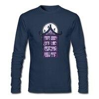 Uma Casa Cheia De Ninjas Camiseta Masculina Desgaste Casa Personalizado Homens Top de Manga Comprida 100% Algodão Tshirts Cara Mais Recente Personalidade Roupas