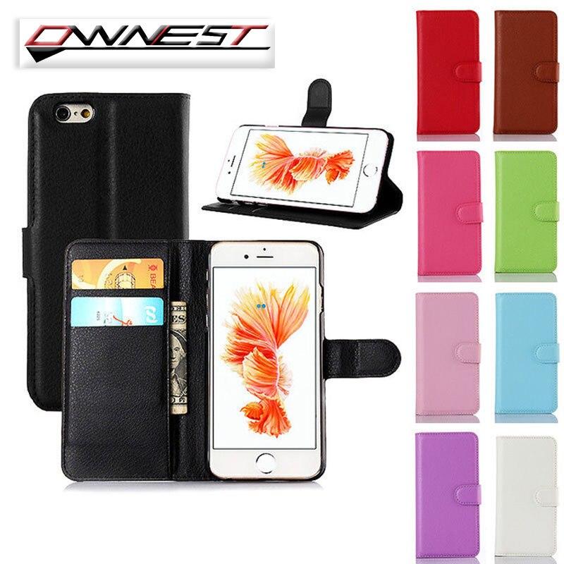 Ownest lujo tirón de la carpeta soporte de la cubierta case para iphone 7 7 plus