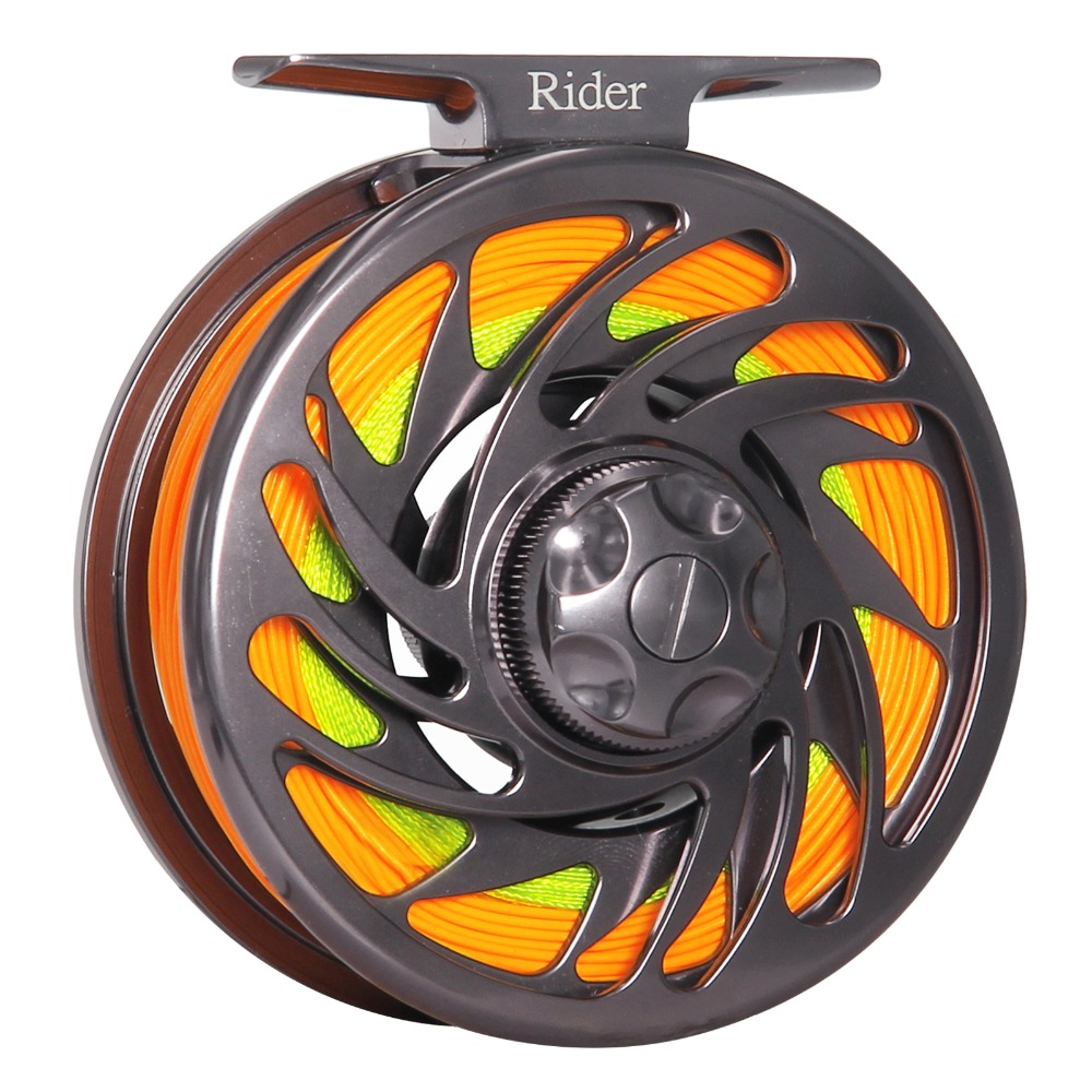 Reel For Fly Fishing Large Arbor Aluminum 3/4 5/6 7/8 9/10 WT  Fly Fishing Reel Combo Outfitter piscifun fly fishing reel platte 3 4 5 6 7 8 9 10 wt cnc machine cut fishing reel large arbor aluminum fly reel302 327 365