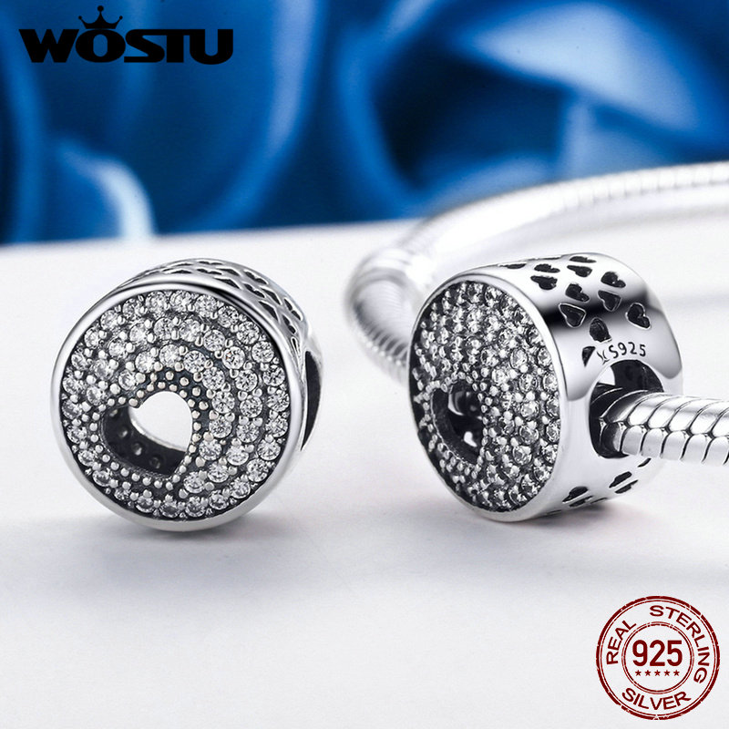 WOSTU New Design 925 Sterling Silver Only Love for You Beads Fit Original WST Charm Bracelet Fine Jewelry Gift FIC214