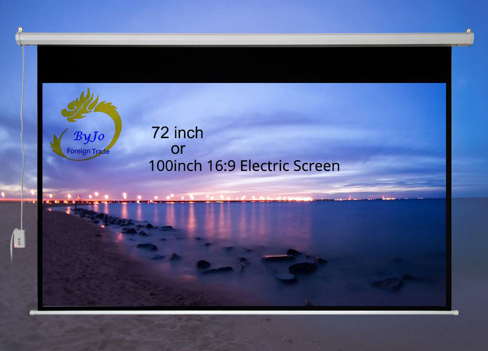72 inch 100 inch 16:9 or 4:3 Electric curtains Motorized Screen for All LED LCD DLP Laser Projector Electric Projector Screen