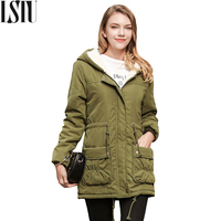 Lstu Hooded Slim Cotton Coat Plus Size Winter Jacket Women Thick Warm Long Parkas Mujer Invierno