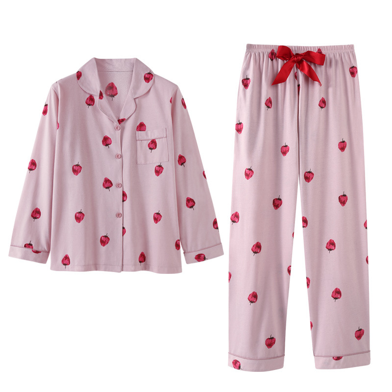 2018 New Autumn Winter Thick Cotton Women   Pajama     Sets   Warm 2 PCS   Pajamas   Suits Sleepwear Autumn Pyjamas   set   Women's Homewear