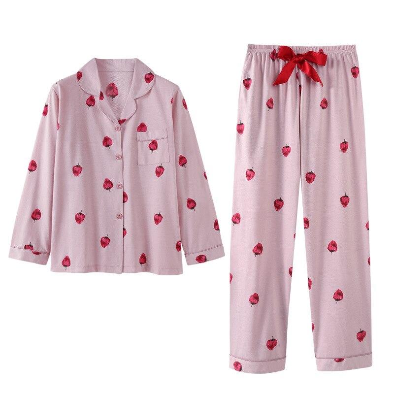 2019 New Autumn Winter Thick Cotton Women Pajama Sets Warm 2 PCS Pajamas Suits Sleepwear Autumn Pyjamas Set Women's Homewear