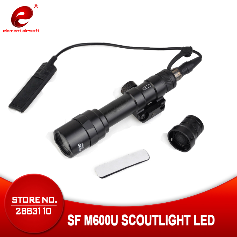 Element Airsoft SF M600U Weapon Scout Light LED 500 Lumens CREE LED XP G R5 Lights