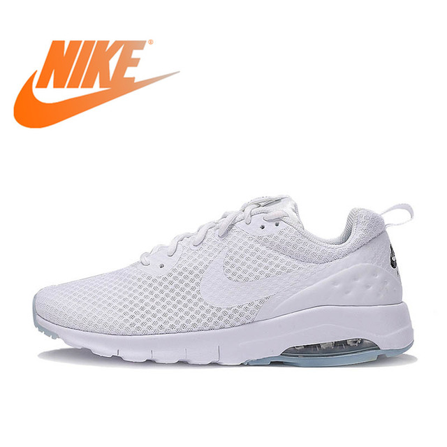 the best attitude 7598c ea308 Original Authentic NIKE Breathable AIR MAX MOTION LW Men s Running Shoes  Sneakers White Blue Comfortable Low-top Durable Classic