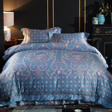 YeeKin из египетского хлопка Европейский Стиль постельного белья Король queen египетского экологический хлопок голубой цвет пододеяльник для отеля комплекты