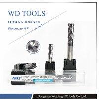5 0XR0 5 1X50L 4 Flute Corner Radius Milling Carbide Cutting Tool 5pcs