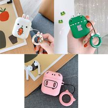 Fashion Cute Cartoon Soft Silicone Protective Cover Shockproof Case Skin for Airpods 1/2 Charging Box