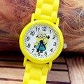 Reloj de los niños 3D Ojo Despicable Me minion minions Precious Leche Papá Niños Lindos Relojes de Dibujos Animados de Cuarzo Reloj de Pulsera de Silicona