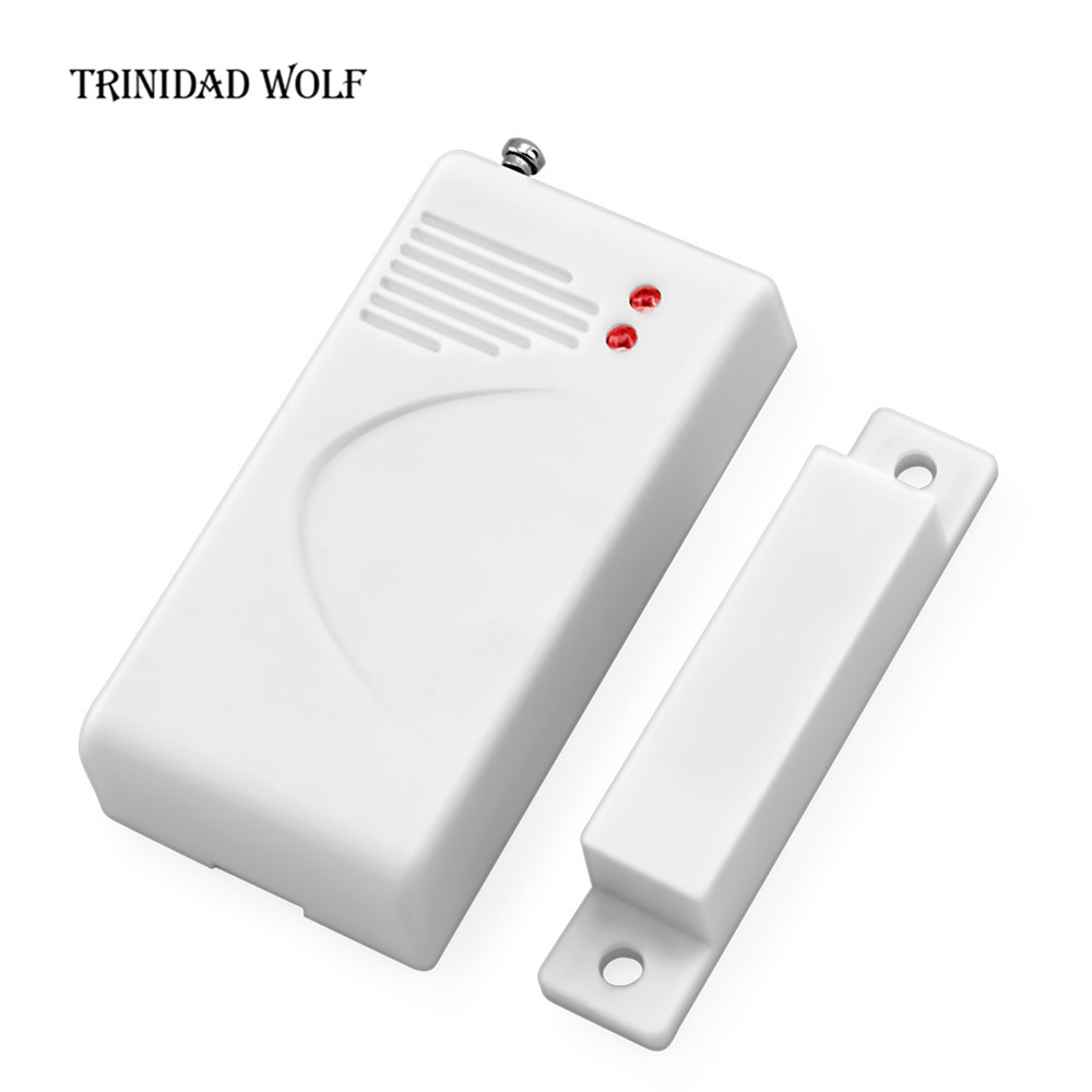 TRINIDAD WOLF Wireless Door Sensor Home Security Alarm System Door Cabinet Window Magnetic Door Detector 433mhz With Battery wireless multi function door sensor magnetic window detector for security alarm system automatic door sensor 433mhz