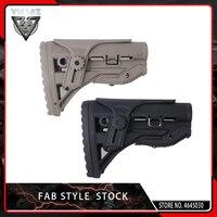 VMASZ FAB Nylon Adjustable Extended Stock for Paintball Accessories Airsoft AEG M4 AK Gel Blaster J8 J9 CS Sports