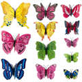 12 piezas 3d PVC pared pegatinas imán mariposas DIY decoración para el hogar cartel Bar baño accesorios de cocina Gadgets Decoración de la pared
