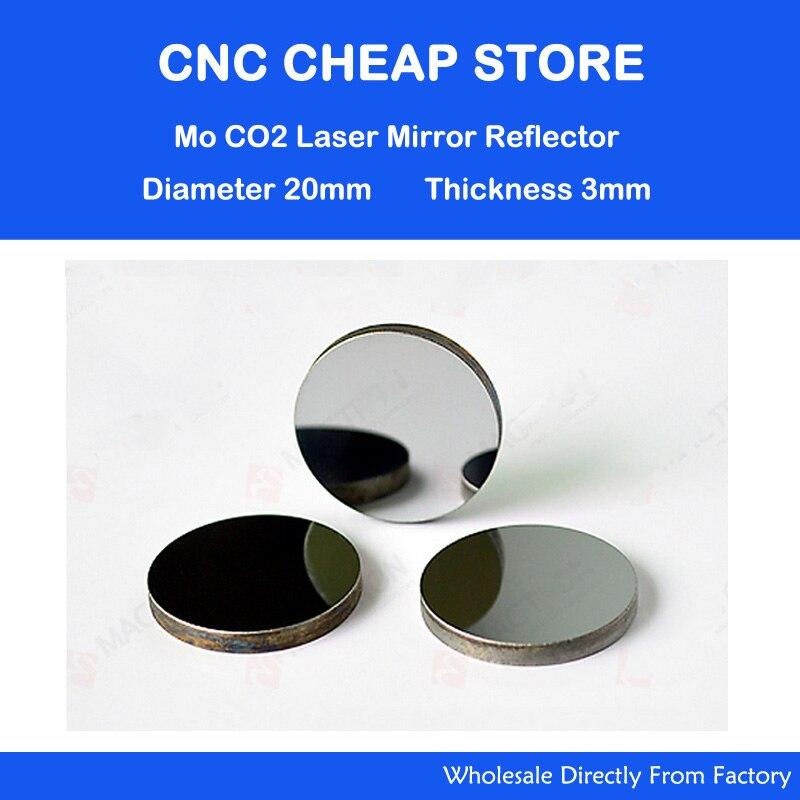 Nouveau Mo Miroir Réfléchissant 3 pcs/lot Diamètre 20mm DIY Kit lentille Miroir Laser Co2 pour la découpe laser de gravure pièces