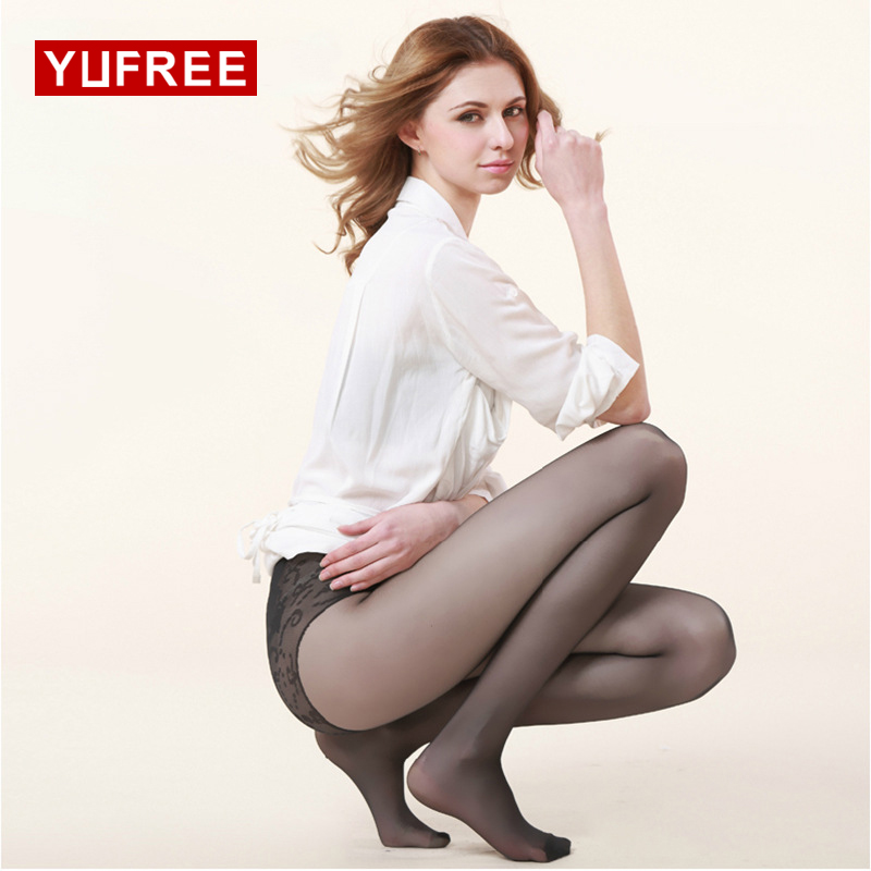 YUFREE Double Wrapped Silk Invisible 3D Thin Tights Pantyhose Bikini Crotch Sexy Female Tights Anti-hook Wire WA-110