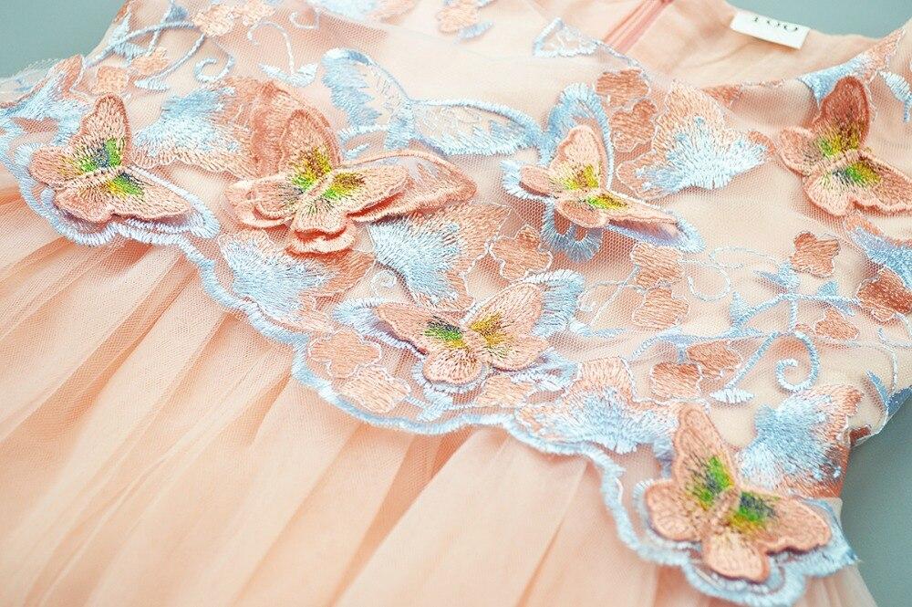 2f068ce12 Cielarko Girls Butterfly Dress Kids Formal Embroidery Tulle ...