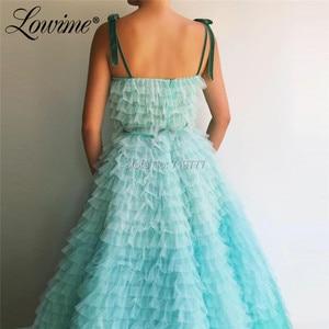 Image 2 - Increíble vestido de fiesta de princesa de verano 2019 de alta costura de tul Multicolor vestidos de graduación con cuentas Abendkleider vestidos de noche árabes