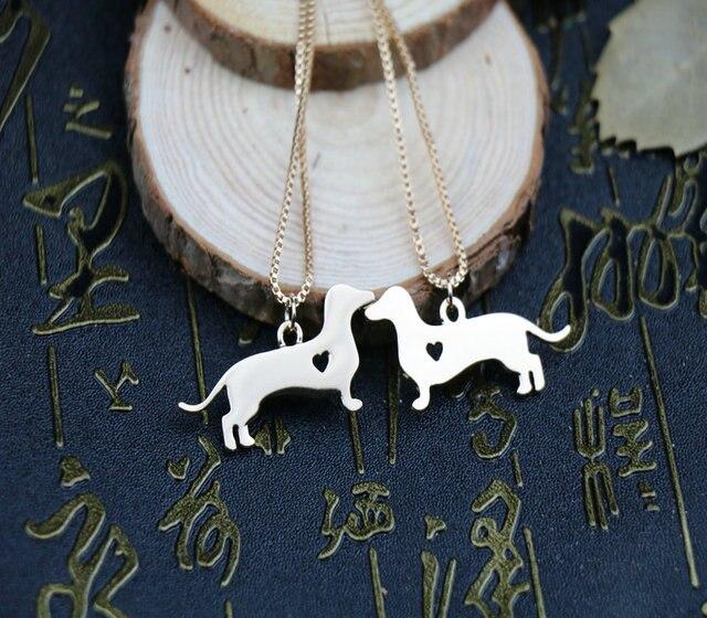 Новейшая летняя мода милое ожерелье с таксой металлическая подвеска