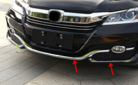 For Honda Accord 2016 2017 Front Grille Bright Sticker Fog Lamp Eyebrow Trim Bumper Strip Sticker